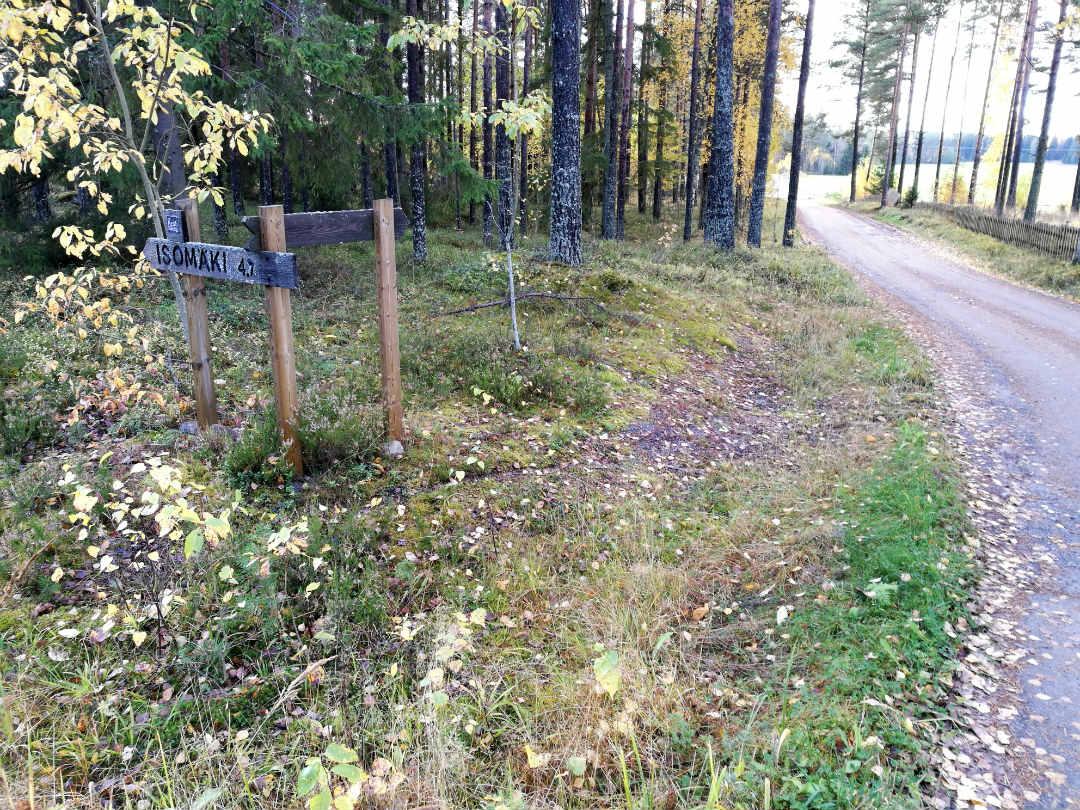 Reitti Satakunta-Pirkanmaa Ladun maja-Isomaki