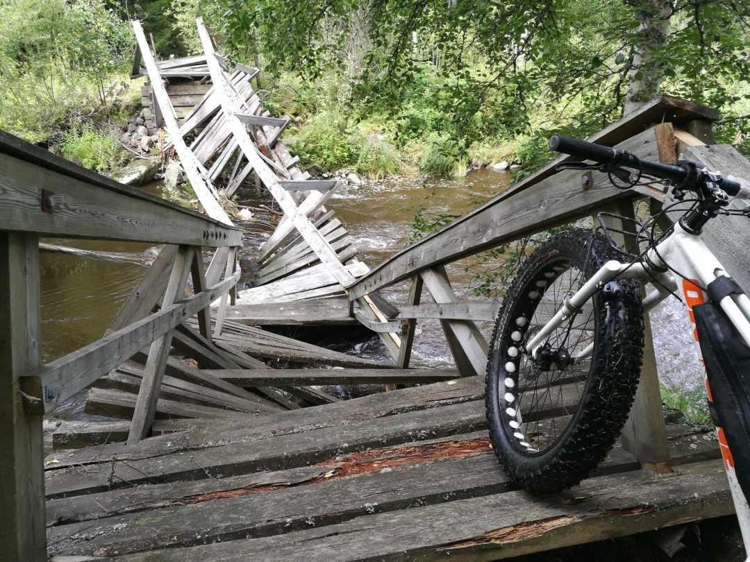 Reitti Satakunta Hanhijoen silta rikki